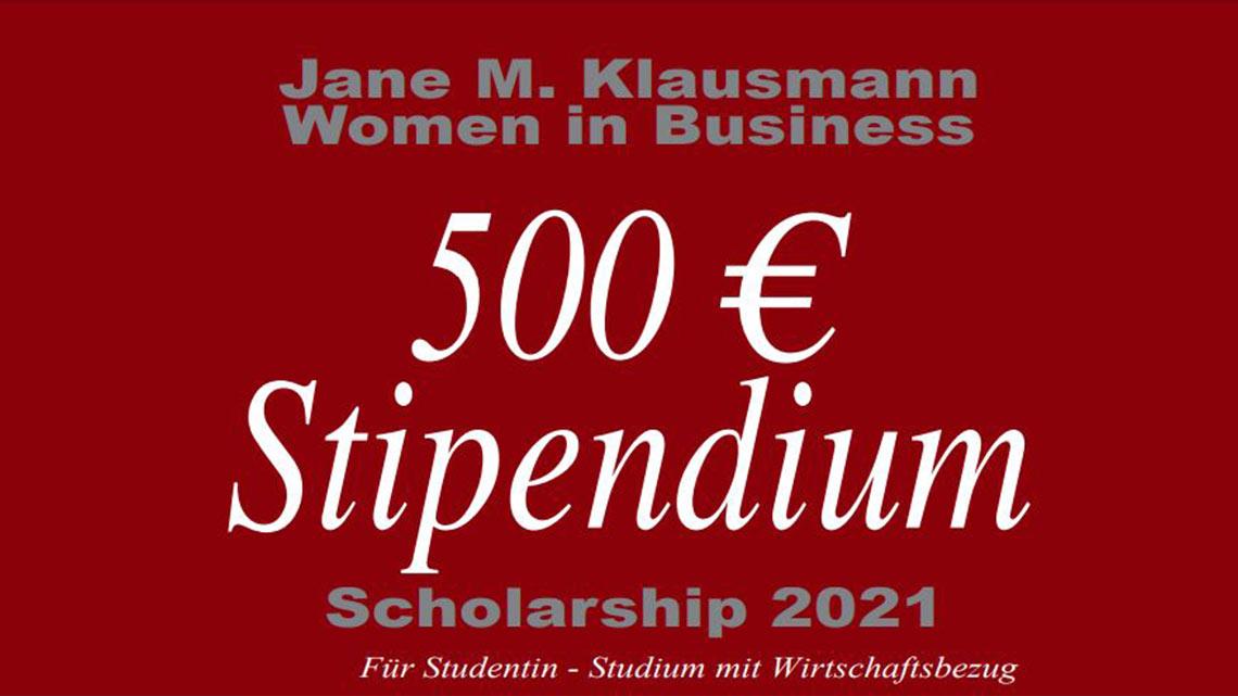 Jane M Klausman Women in Business Stipendium